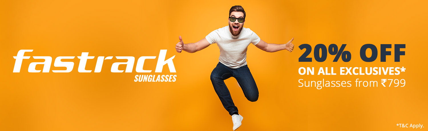 Flat 20% Off On Exclusive Sunglasses*