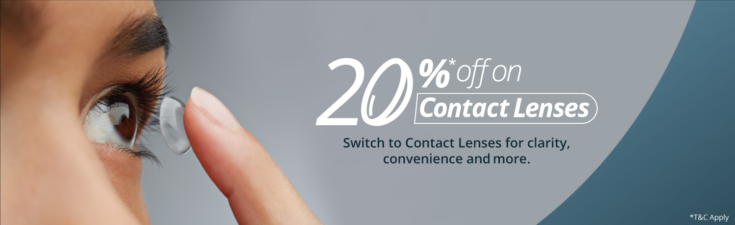 Flat 20% Off on Contact Lens