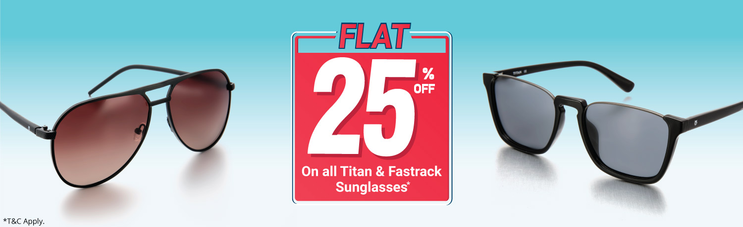 Flat 25% Off On All Titan And Fastrack Sunglasses