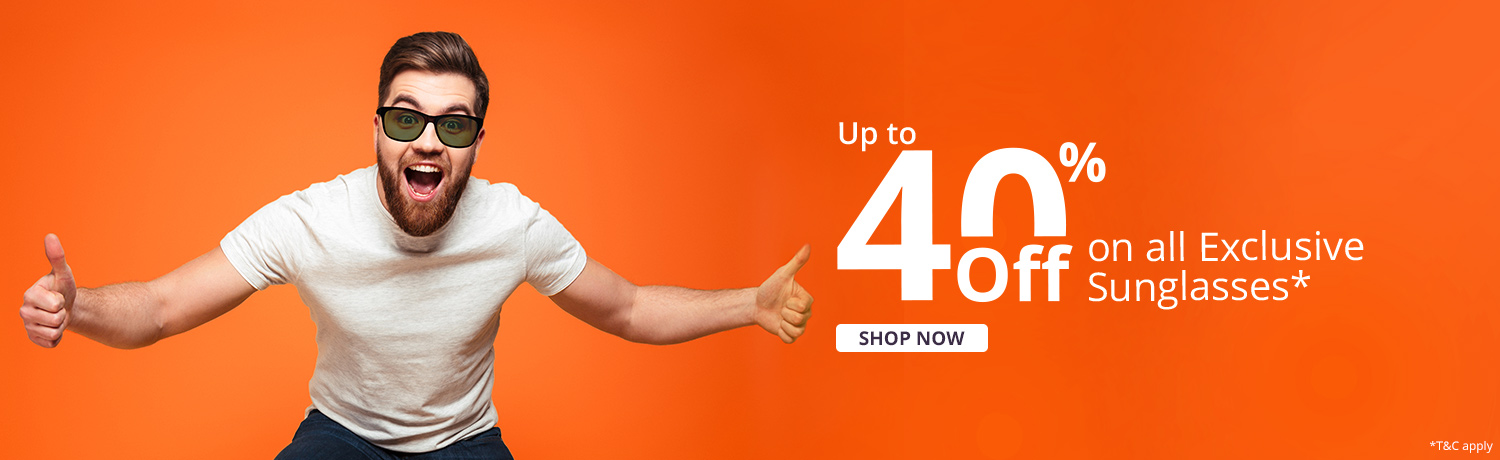 Upto 40% Off On Exclusive Sunglasses*