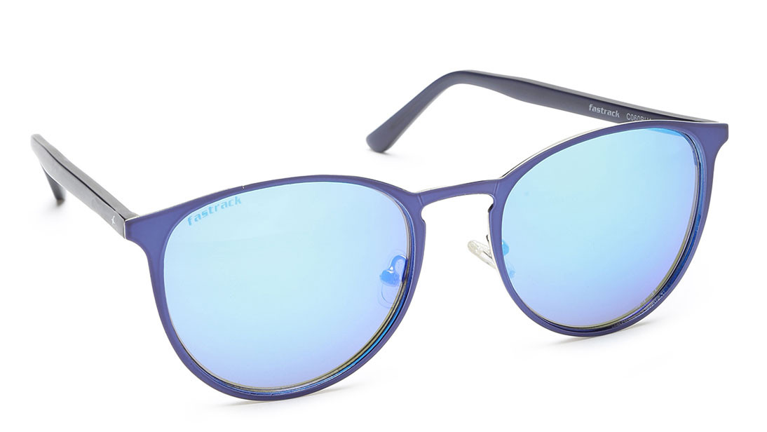 Blue Round Fastrack Men Sunglasses