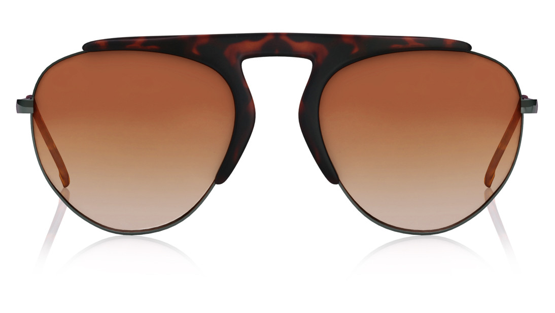 Brown Pilot Fastrack Men Sunglasses