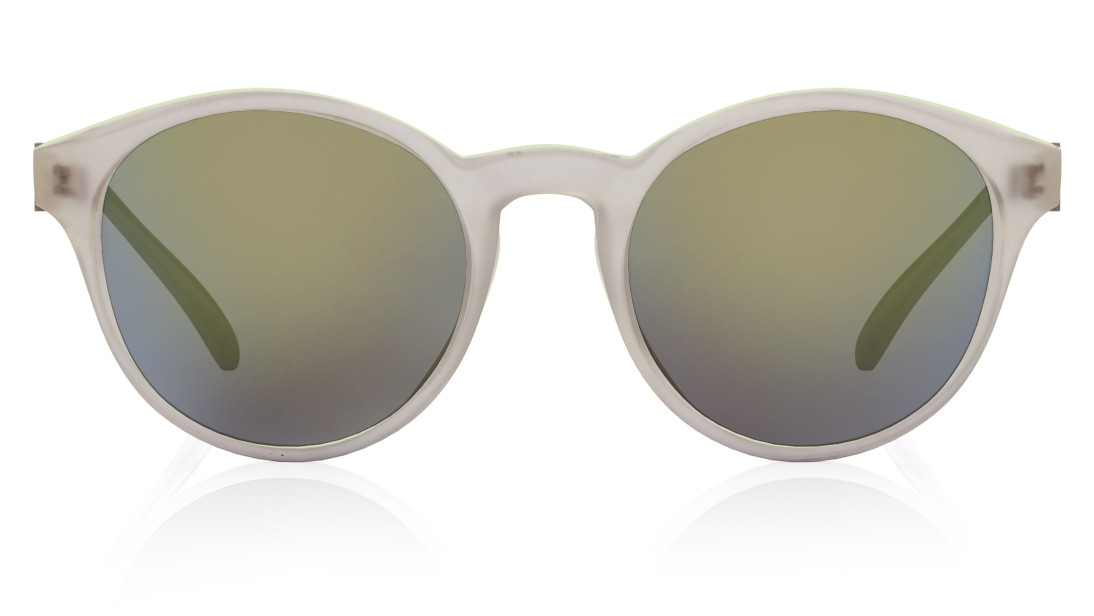 White Round Fastrack Women Sunglasses