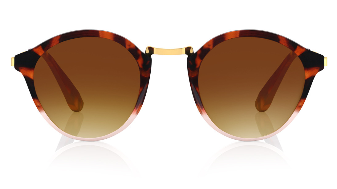 Brown Orange Oval Fastrack Women Sunglasses