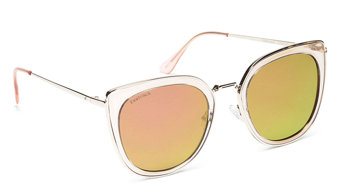 Gold CatEye Fastrack Women Sunglasses