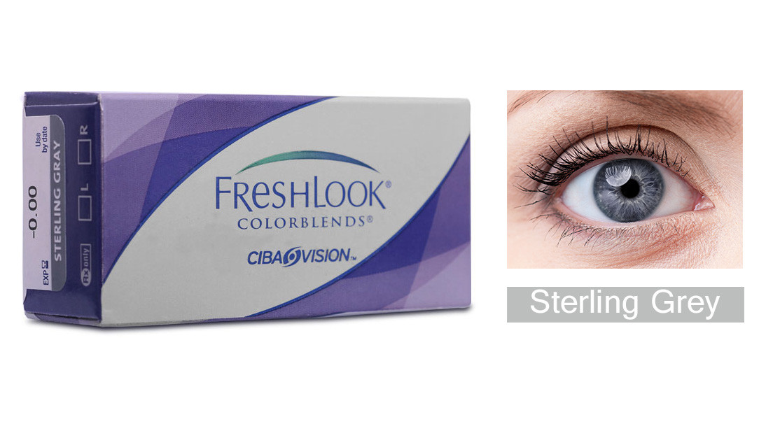 Monthly Disposable Ciba Vision Fresh Look - Sterling Grey Contact Lens