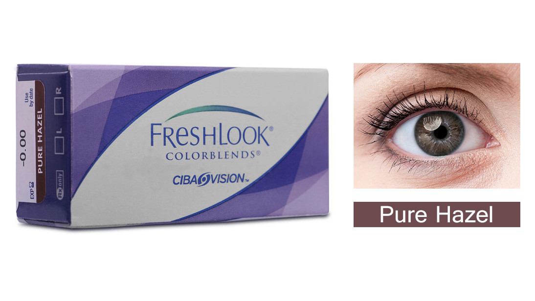 Monthly Disposable Ciba Vision Fresh Look - Pure Hazel Contact Lens
