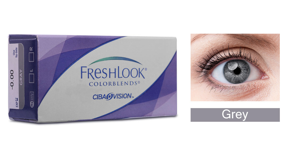 Monthly Disposable Ciba Vision Fresh Look - Grey Contact Lens