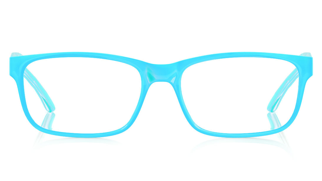 Green Square Rimmed Eyeglasses from Dash