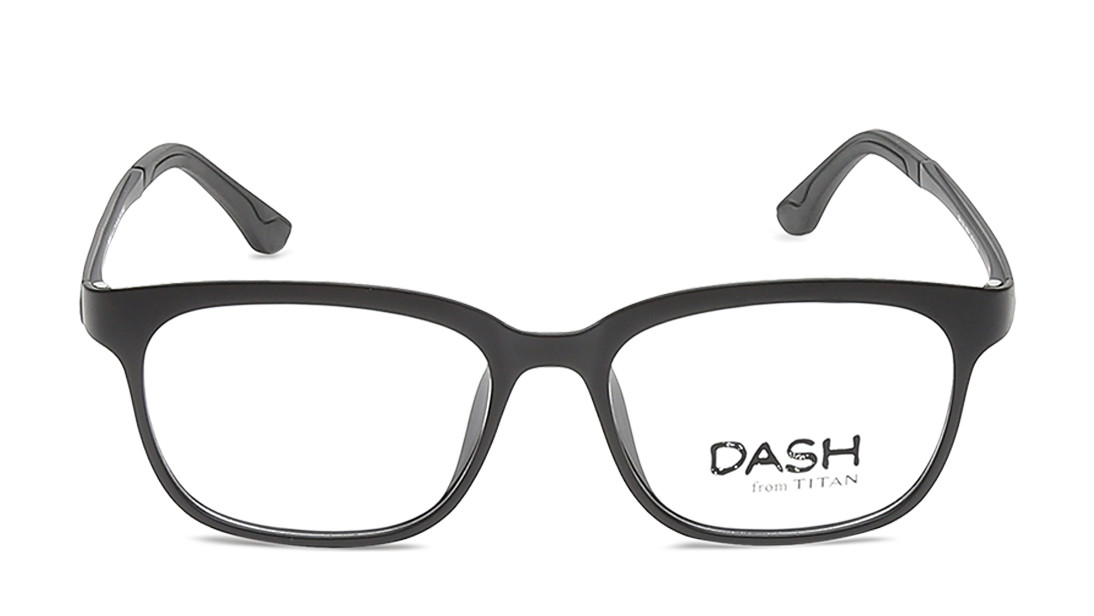 Black Square Rimmed Eyeglasses from Dash
