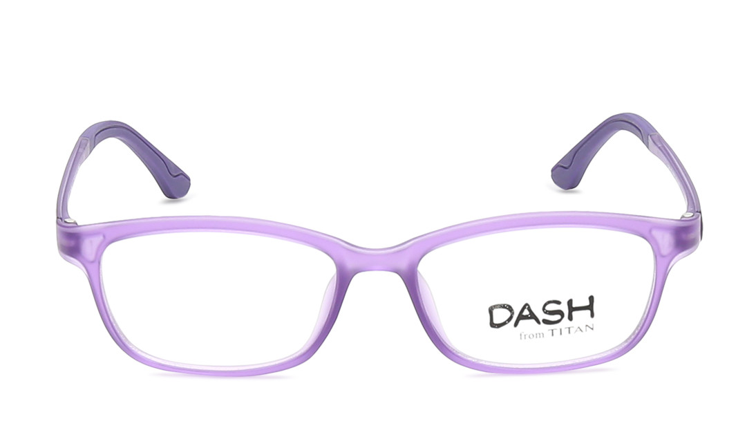 Purple Rectangle Rimmed Eyeglasses from Dash