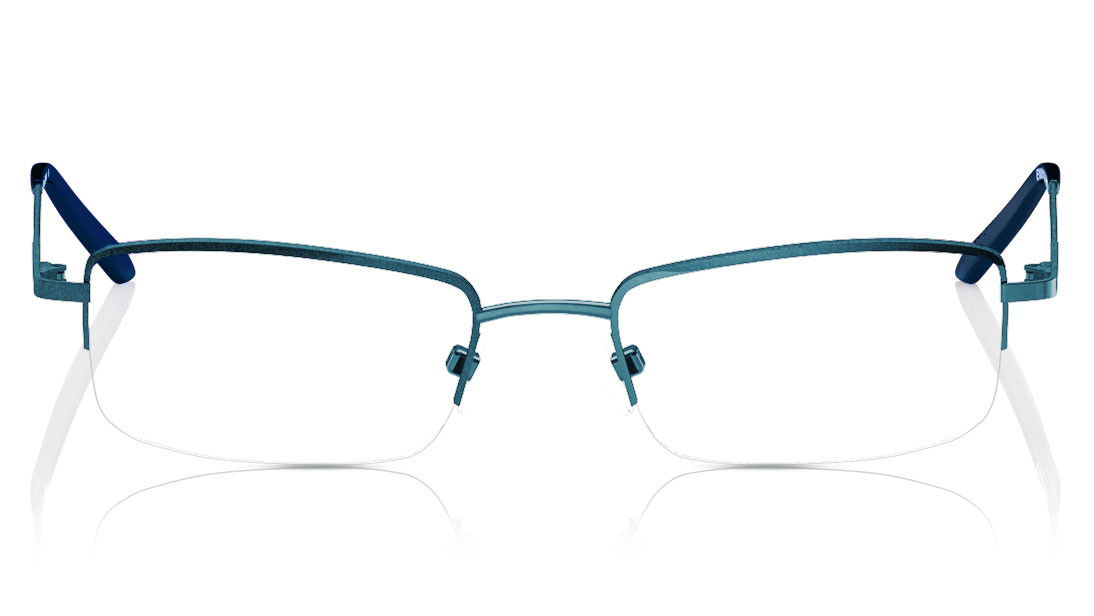 Green Rectangle Semi-Rimmed Eyeglasses from Titan