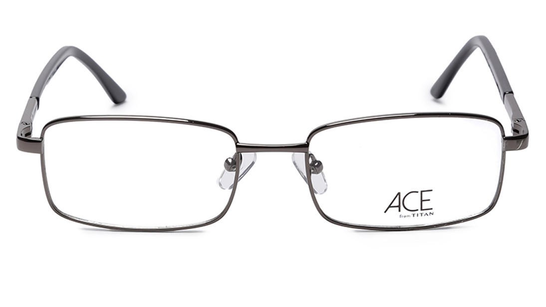 Silver Rectangle Rimmed Eyeglasses from Titan