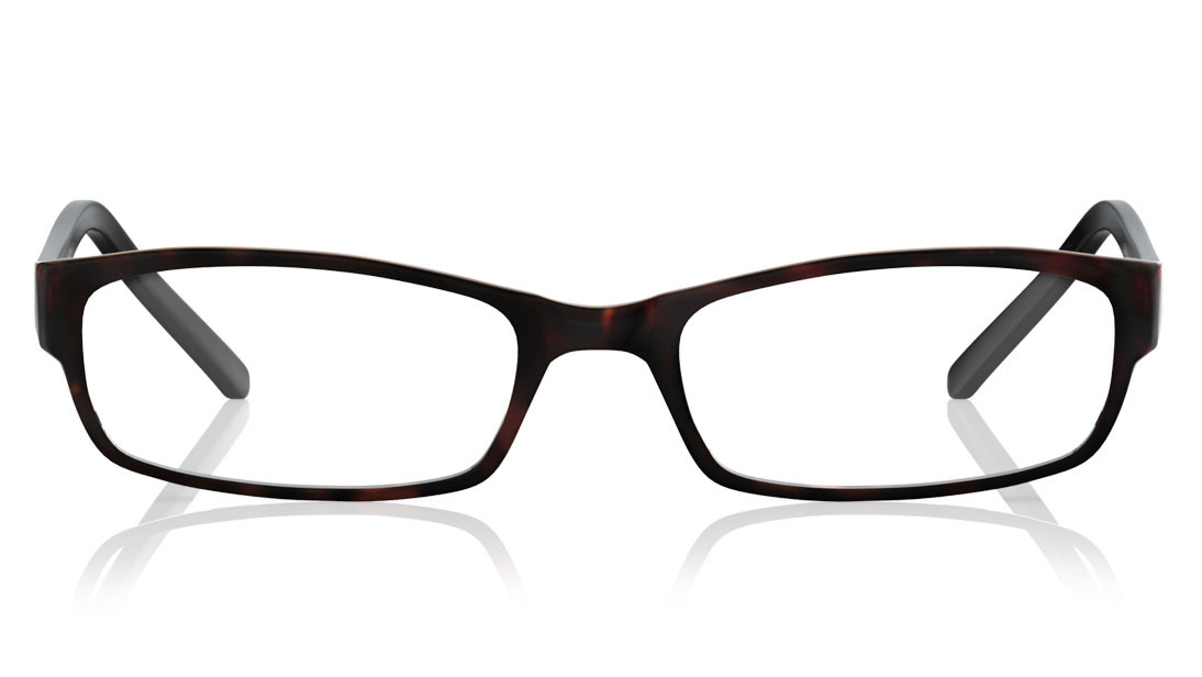 Brown Demi Rectangle Rimmed Eyeglasses from Titan