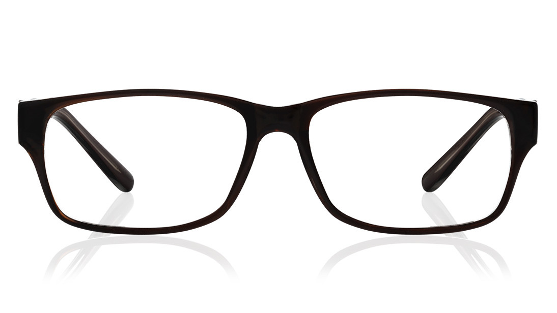 Maroon Crystal Rectangle Rimmed Eyeglasses from Titan