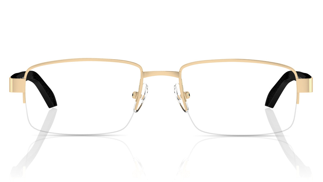 Gold Rectangle Semi-Rimmed Eyeglasses from Titan
