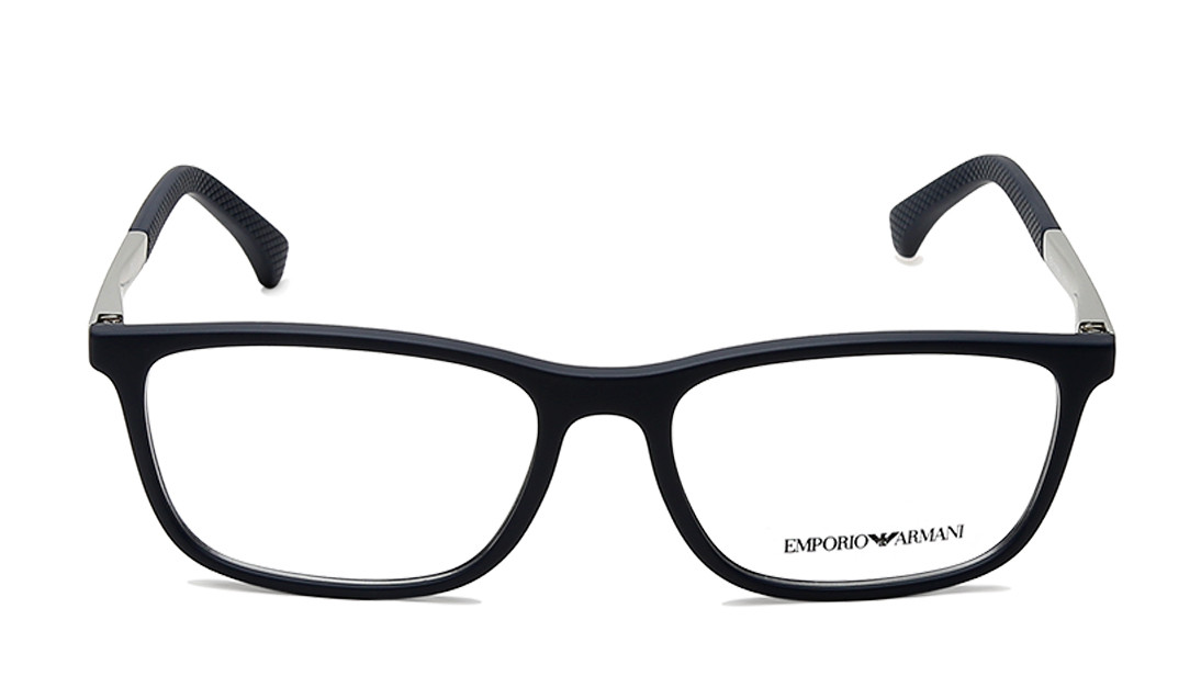 Blue Rectangle Rimmed Eyeglasses from Emporio Armani