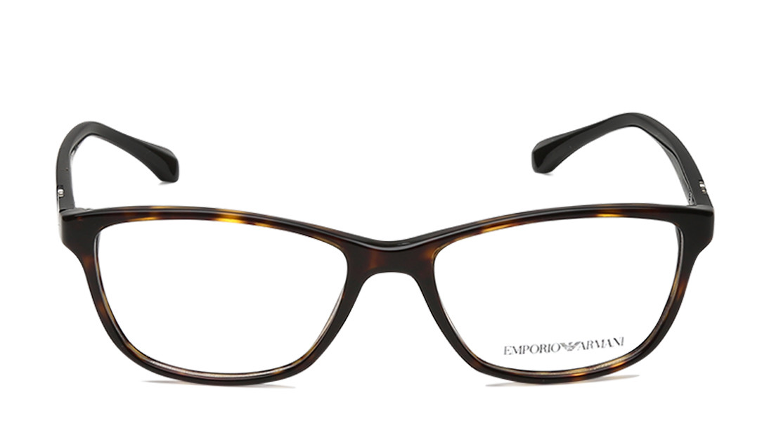 Brown Square Rimmed Eyeglasses from Emporio Armani