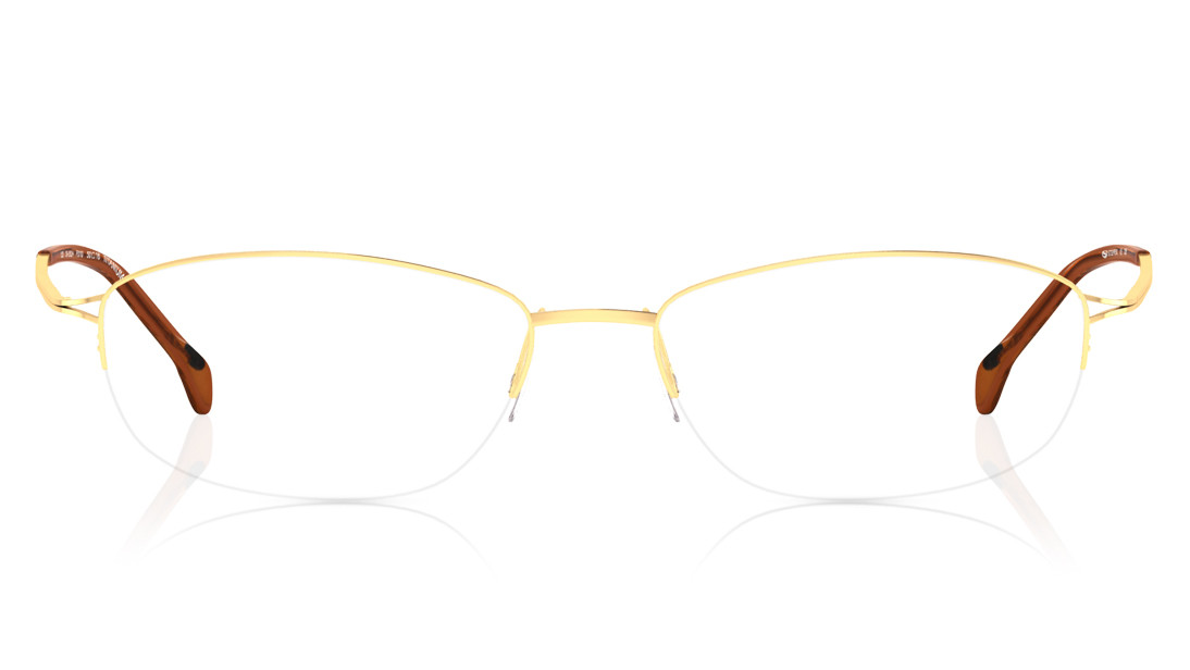 Gold Navigator Semi-Rimmed Eyeglasses from Stepper