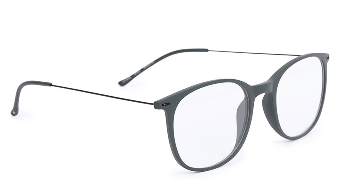 Grey Square Rimmed Eyeglasses From Fastrack