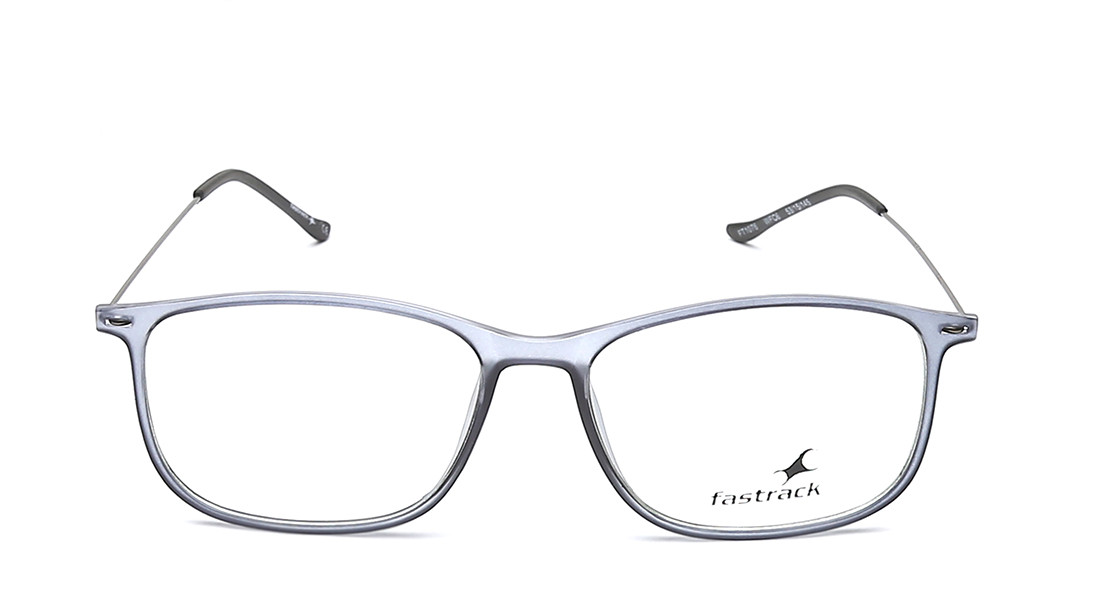 Grey Rectangle Rimmed Eyeglasses From Fastrack