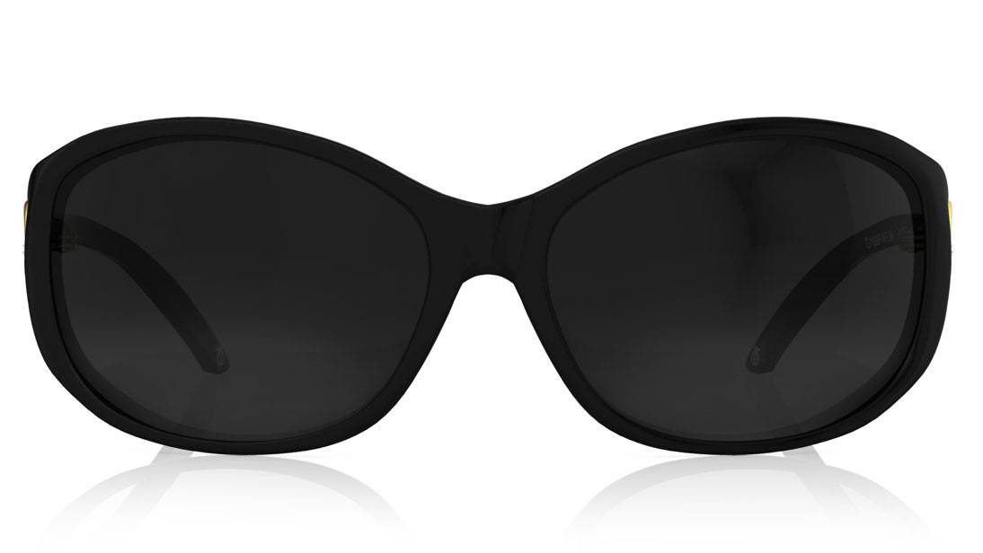 Black Oval Titan Women Sunglasses