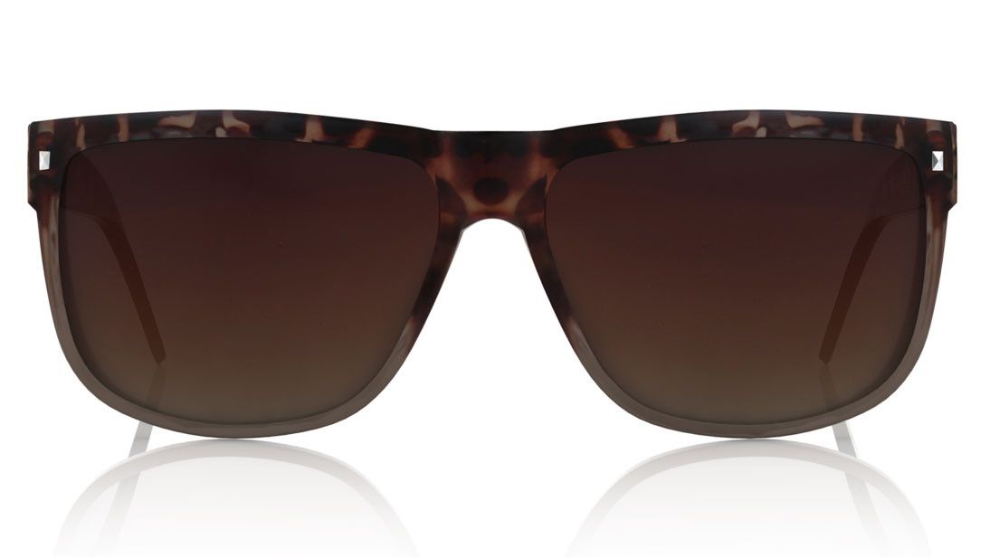 Brown Square Titan Women Sunglasses