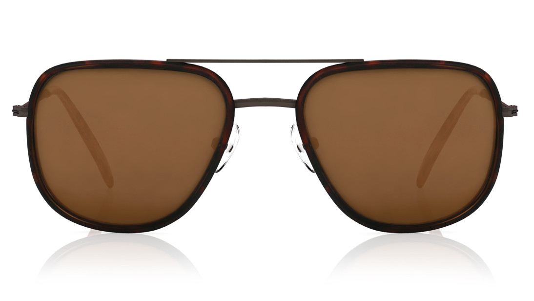 Brown Pilot Titan Men Sunglasses