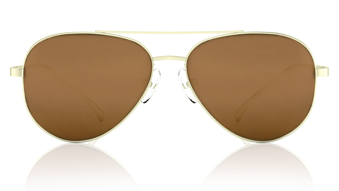 Gold Pilot Titan Men Sunglasses