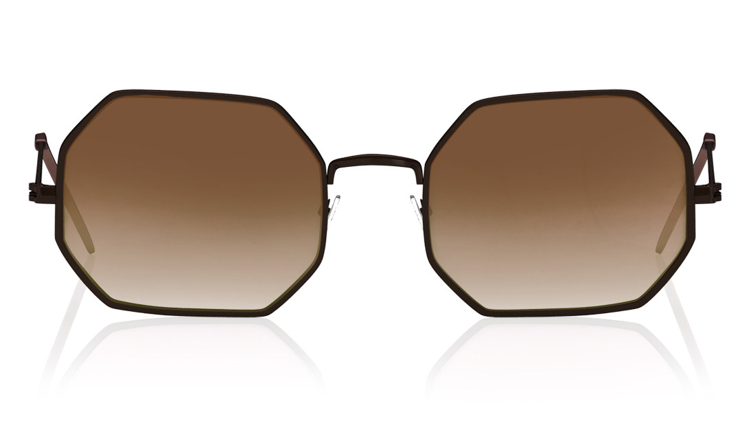 Brown Round Fastrack Men Sunglasses