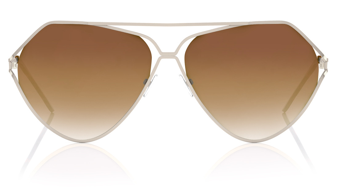 Gold Pilot Fastrack Women Sunglasses