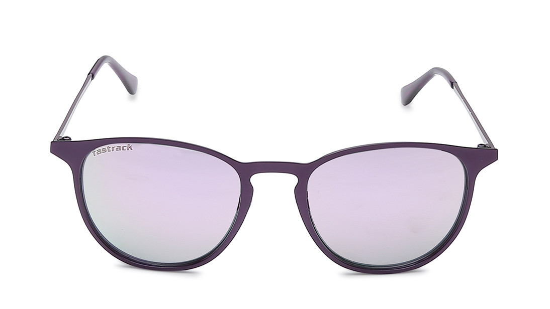 Purple Round Fastrack Women Sunglasses