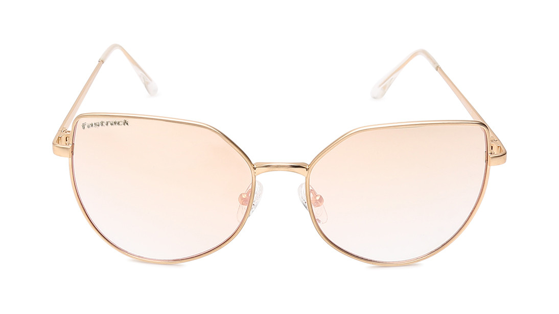 Gold Goggle Fastrack Women Sunglasses