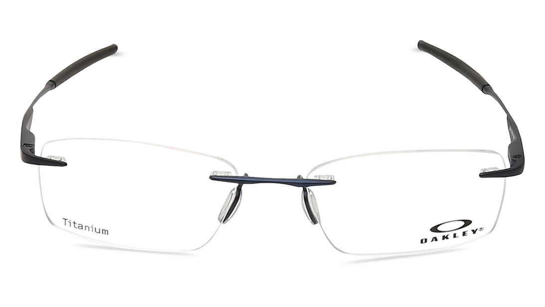 Blue Rectangle Rimless Eyeglasses from Oakley