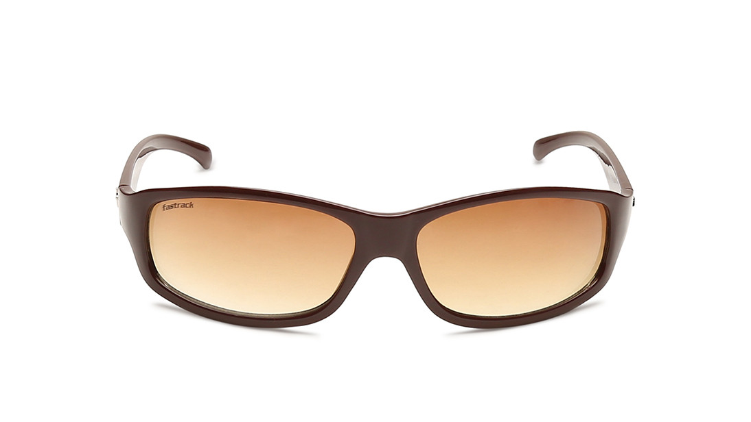 Gold Rectangle Fastrack Men Sunglasses