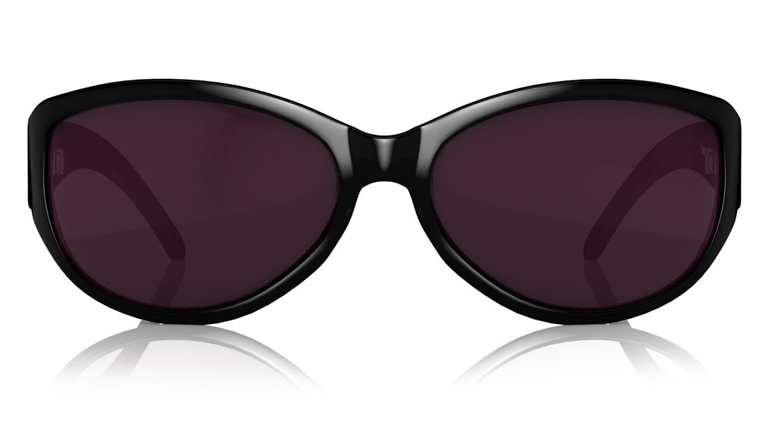 Black Oval Fastrack Women Sunglasses
