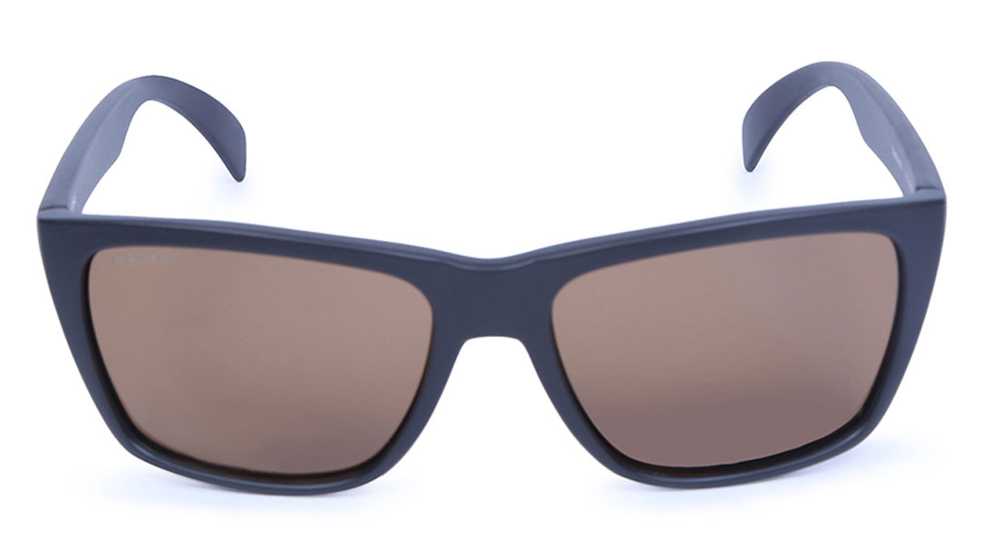 Brown Wraparound Fastrack Unisex Sunglasses