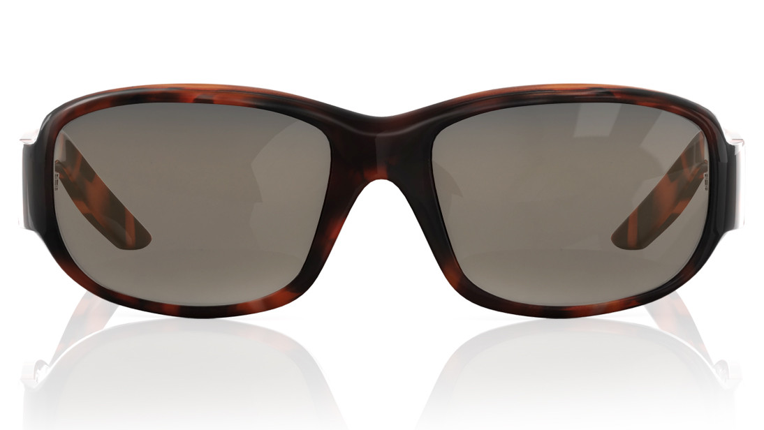 Brown Wraparound Fastrack Men Sunglasses