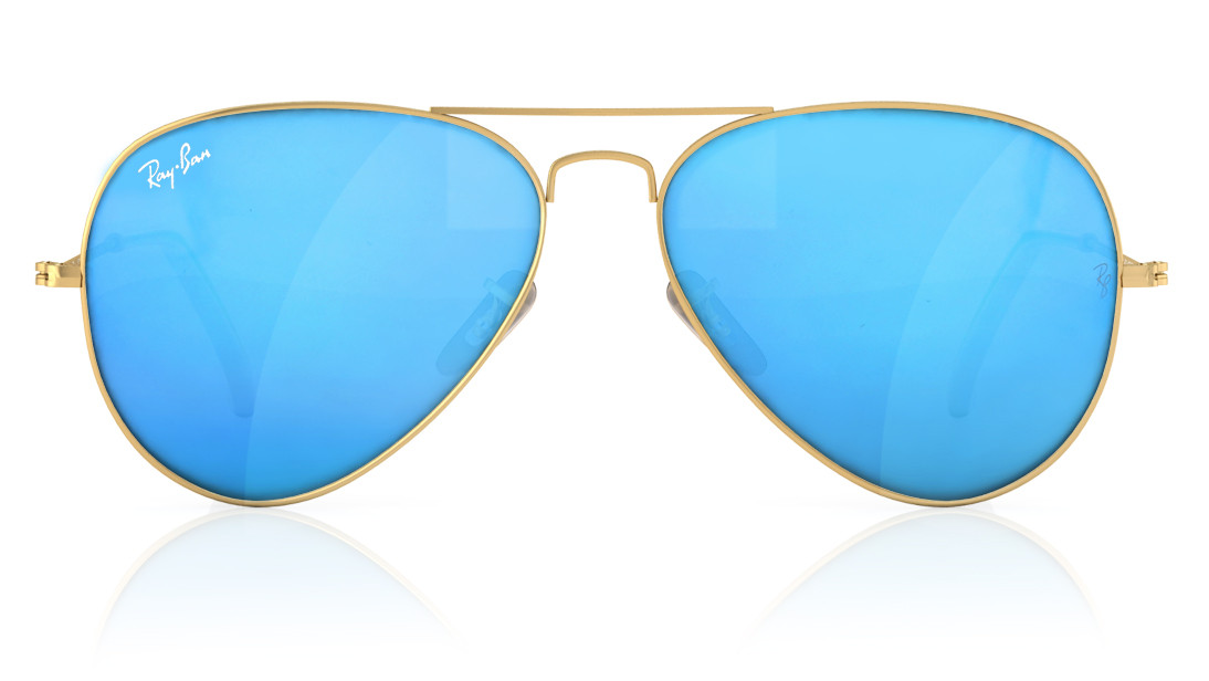 59b57fb808 Ray-ban Gold Rimmed Aviator Sunglasses For Men And Women