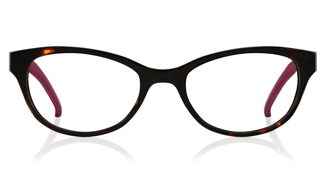 Black Yellow Oval Rimmed Eyeglasses from Titan