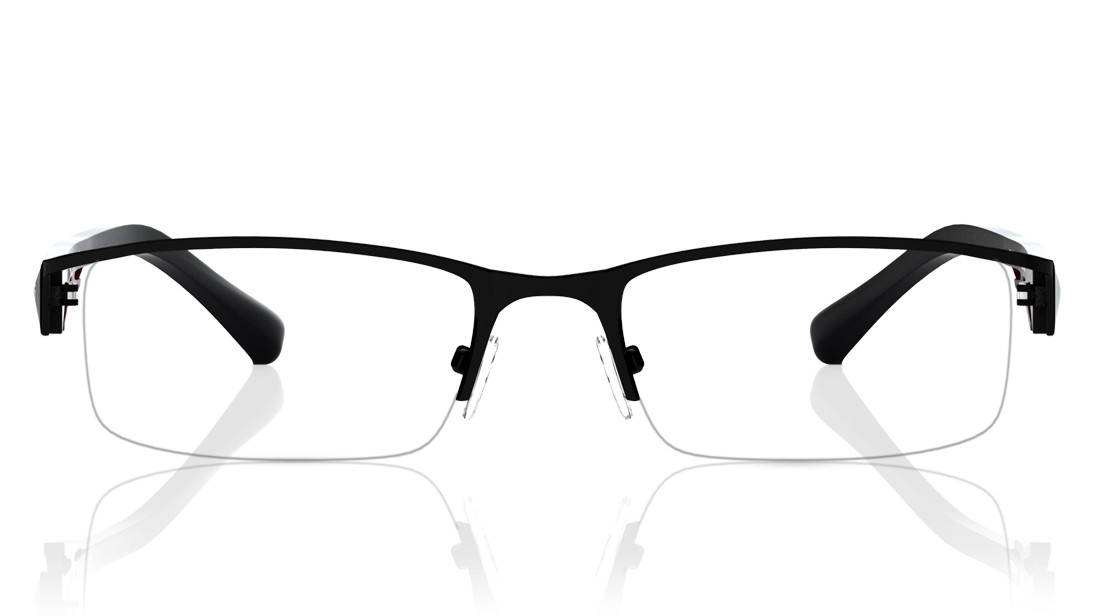 Black Rectangle Semi-Rimmed Eyeglasses from Titan