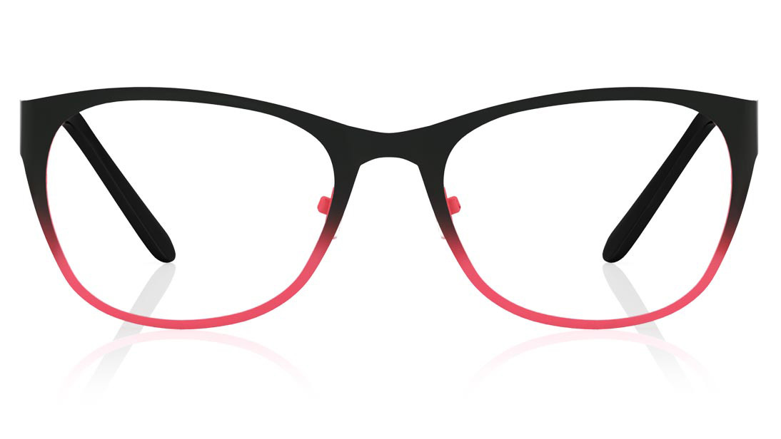 Black Pink Square Rimmed Eyeglasses from Titan