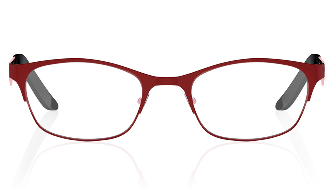 Red CatEye Rimmed Eyeglasses from Titan