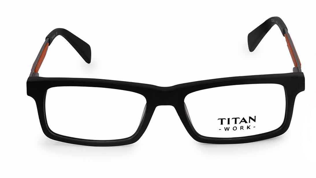 Blue Rectangle Rimmed Eyeglasses from Titan