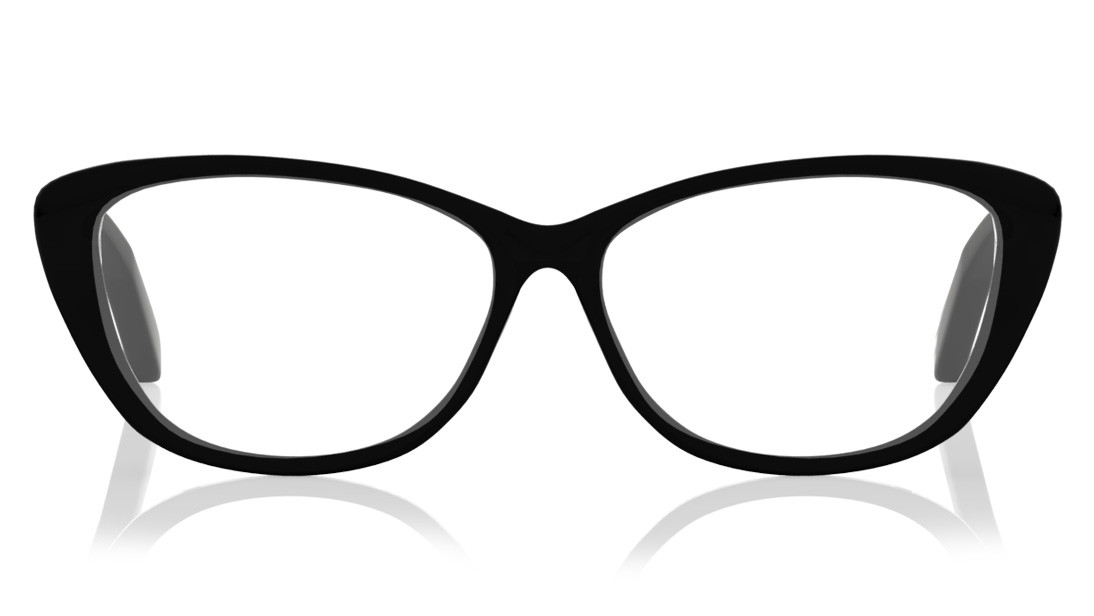Black CatEye Rimmed Eyeglasses from Titan