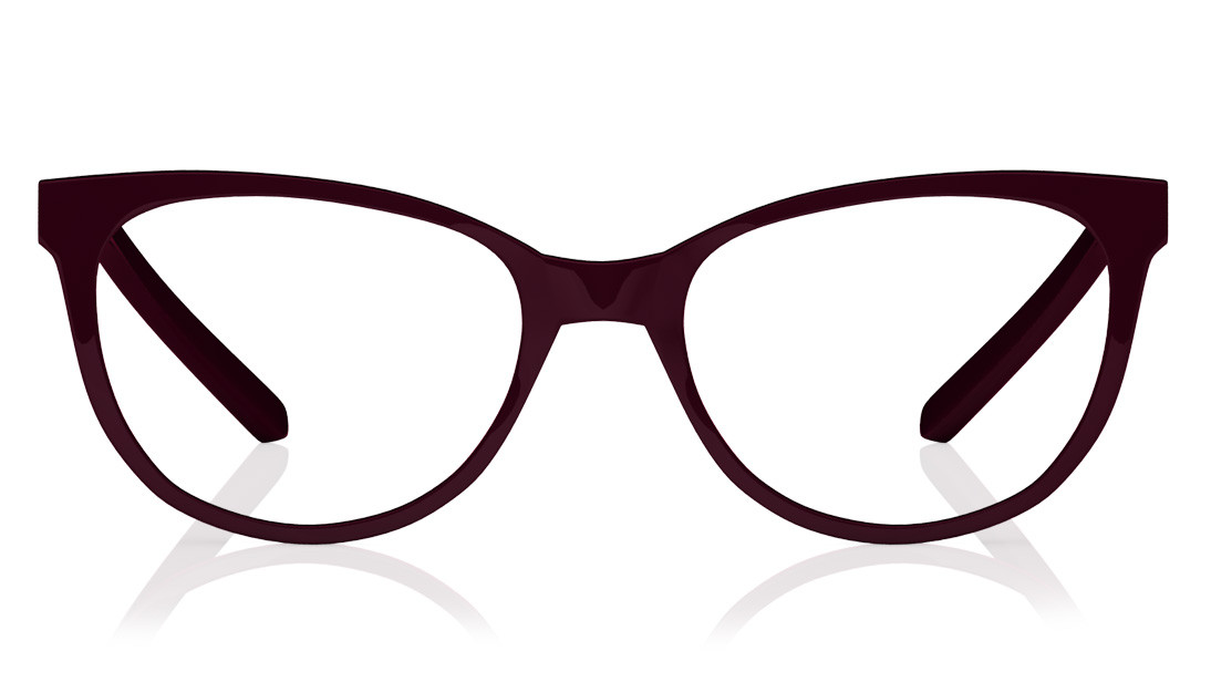 Maroon Square Rimmed Eyeglasses from Titan