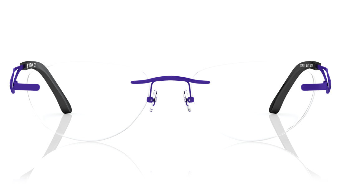 Purple Oval Rimless Eyeglasses from Titan