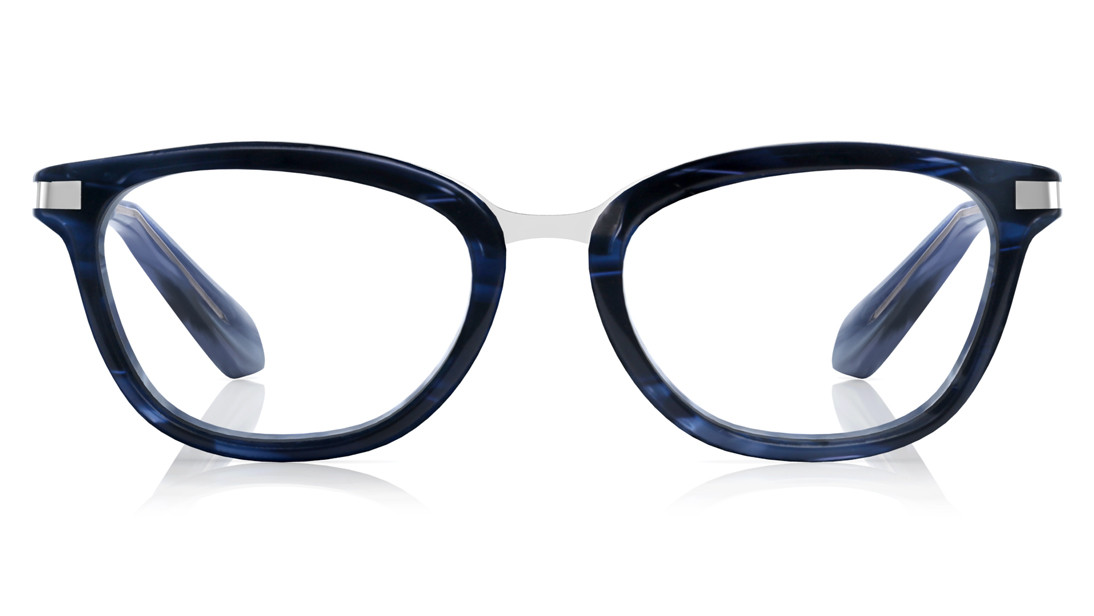 Blue CatEye Rimmed Eyeglasses from Titan