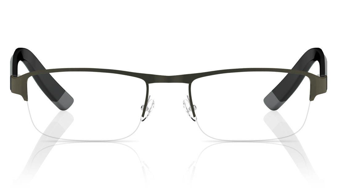 Gun Metal Rectangle Semi-Rimmed Eyeglasses from Titan