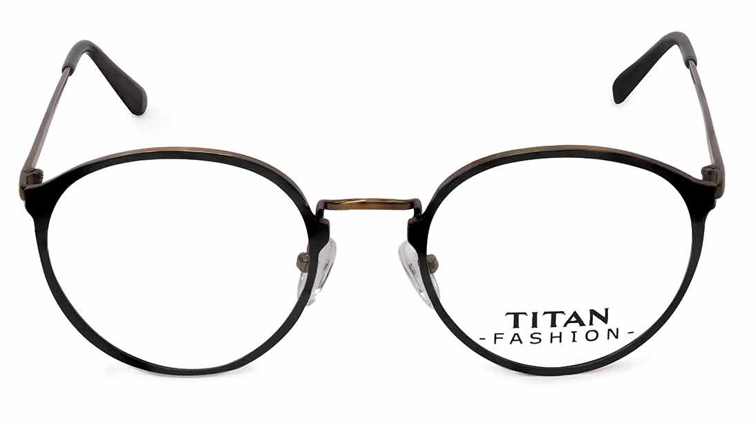 Copper Round Rimmed Eyeglasses from Titan